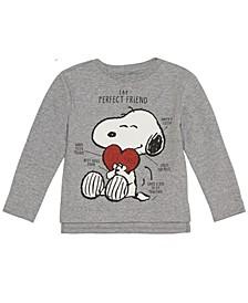 Toddler Girls Peanuts Snoopy Long Sleeve Fleece Top
