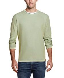 Men's Stonewashed Raglan Sleeve Honeycomb Sweater