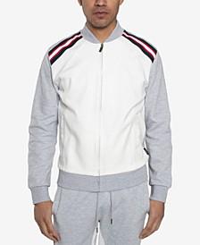 Men's Yarn Dye Rib Track Jacket