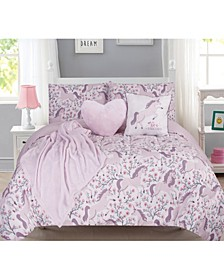 6-Piece Full Kids Magical Unicorn Comforter Set
