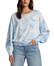 Juniors' Lazy Way Tie-Dyed Sweatshirt