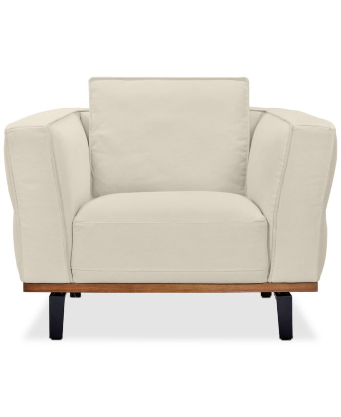 """Furniture Aubreeze 41"""" Fabric Chair, Created for Macy's & Reviews - Furniture - Macy's"""