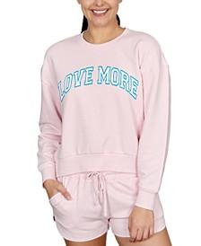 Juniors' Love More Graphic-Print Sweatshirt