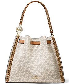 Mina Signature Large Chain Shoulder Bag