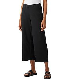 Organic Cropped Wide-Leg Pants