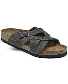 Men's Lugano Oiled Leather Sandals from Finish Line