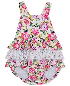 Baby Girls Floral-Print Sun Suit