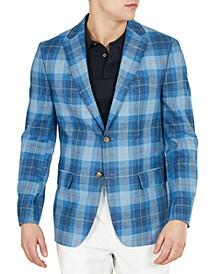 Men's UltraFlex Blue Plaid Blazer