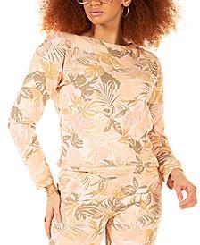 Petite Palm-Print Pullover Top