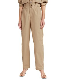 High-Waisted Tapered Pants
