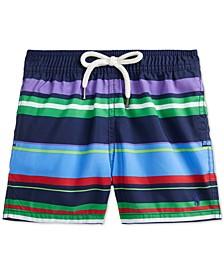 Baby Boys Striped Traveler Swim Trunks