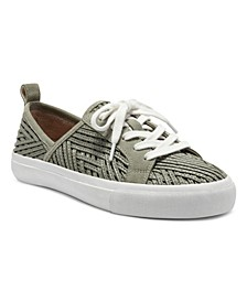Women's Dansbey Woven Lace-Up Sneakers