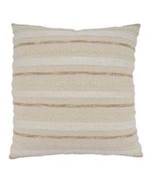 """Saro Lifestyle Pillows THROW PILLOW COVER, 22"""" X 22"""""""