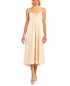 Petite Textured Empire-Waist Dress