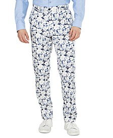 Men's Slim-Fit Floral Suit Separate Pant, Created for Macy's