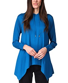 Handkerchief-Hem Hooded Sweatshirt, Regular & Petite Sizes