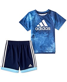 Baby Boys 2-Pc. Logo-Print T-Shirt & Shorts Set
