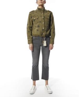 Women's Garment Dye Stars Print Jacket