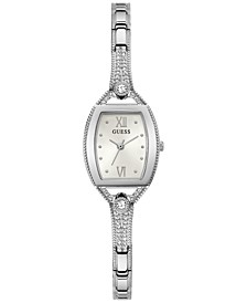 Women's Crystal Stainless Steel Bangle Bracelet Watch 22mm