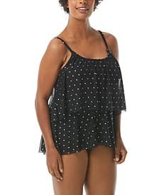 Bra-Sized Tiered Tankini Top & Convertible Bikini Bottoms