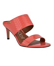 Women's Cecily Slip On Heeled Dress Sandals