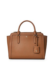 Crosshatch Leather Medium Brooke Satchel