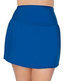 Trendy Plus Size Solids Bravo Swim Skirt
