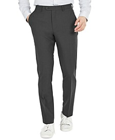 Men's Slim-Fit Solid Wool Suit Pants, Created for Macy's