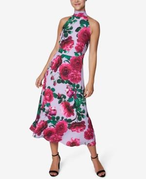 Floral-Print Halter Midi Dress