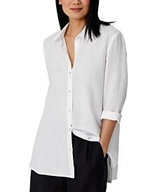 Organic Linen Classic-Collar Shirt