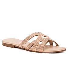 Women's Falerna Strappy Slide Flat Sandals