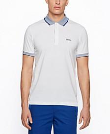 BOSS Men's Chest-Logo Stretch-Cotton Polo