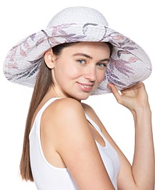 INC Painted-Print Floppy Hat, Created for Macy's