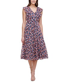Gansett Floral-Print Dress
