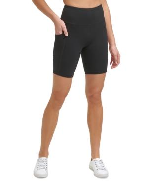 Calvin Klein Performance Logo High-waist Bike Shorts In Berry