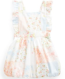 Baby Girls Ruffled Cotton Floral-Print Bubble Romper