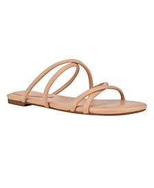 Women's Beva Criss-Cross Slip-On Flat Sandals