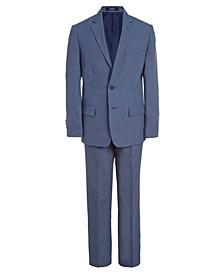 Big Boys Micro Texture Suit, 2-piece Set
