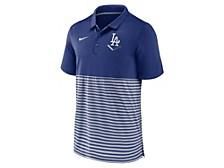 Men's Los Angeles Dodgers Icon Stripe Polo Shirt