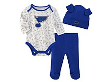 Infant St. Louis Blues Li'l Player 3-Pc. Pants & Hat Set