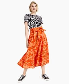 Cotton Jungle-Print Midi Skirt, Created for Macy's