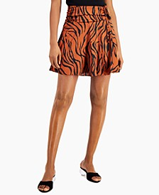 Animal-Print Ruched Mini Skirt, Created for Macy's