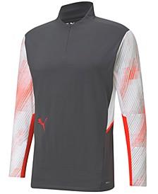 Men's Colorblocked Quarter-Zip Performance Shirt