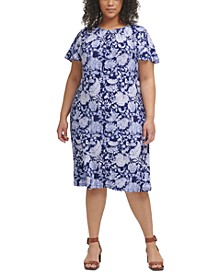 Plus Size Sorrento Floral-Print Dress
