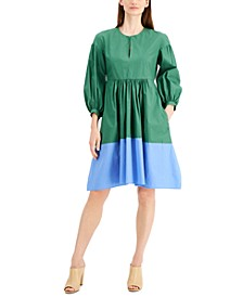Sala Cotton Colorblocked Dress