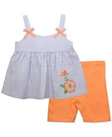 Baby Girls Seersucker Top & Shorts Set
