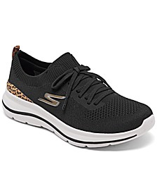 Women's GO walk 5 - Leopard Walking Sneakers from Finish Line