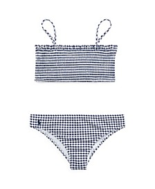 Big Girls Gingham Swimsuit, 2 Pieces