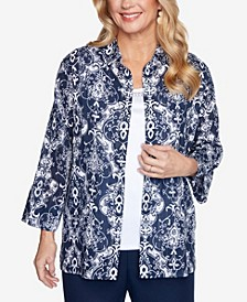 Women's Missy Anchor's Away Medallion Two For One Top