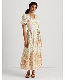 Floral Cotton Voile Maxi Dress